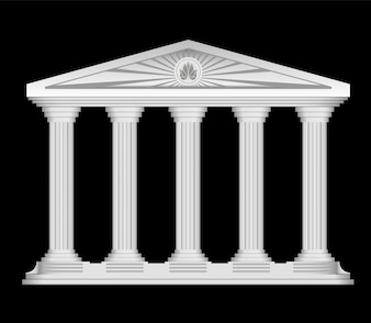 Antieke Romeinse tempel gestileerde vector achtergrond