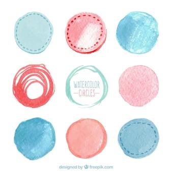 Aquarel cirkels