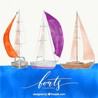 Aquarel kaars set
