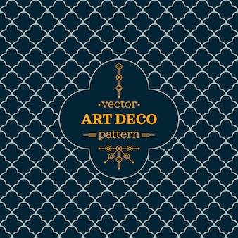 Art deco monochroom naadloze arabische zwart-wit behang of achtergrond met hipster label of badge