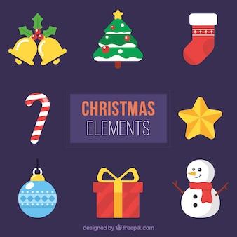 Assortiment van kerst traditionele elementen