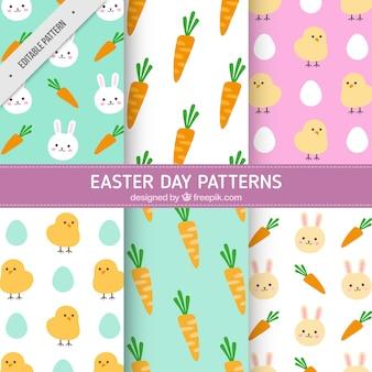 Assortiment van zes Pasen patronen