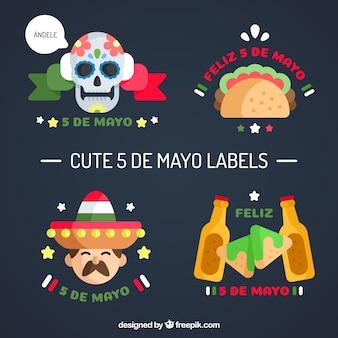 Awesome labels klaar voor cinco de mayo