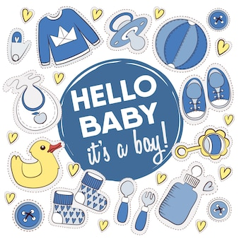 Baby shower ontwerpen collectie