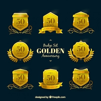 Badge set gouden jubileum