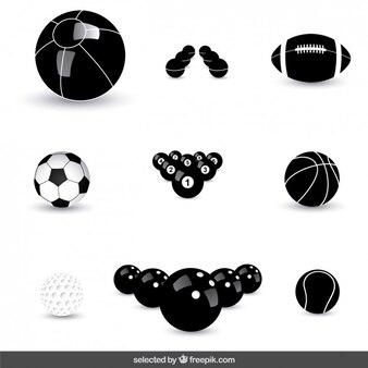 Ballen iconen collectie