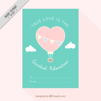 Balloon hartvormige enquête