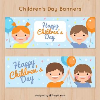 Banner ontwerp voor kinderdag