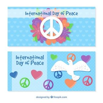 Banners van de internationale dag van vrede