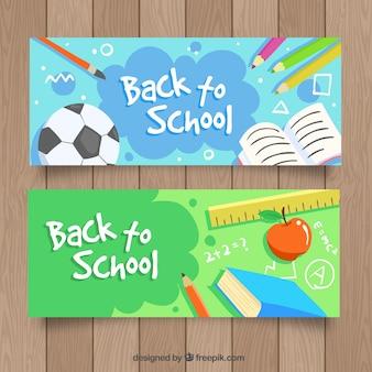 Banners voor boeken en andere schoolmaterialen