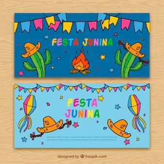 Banners voor het vieren van festa junina