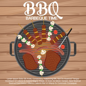 Barbeque vectoren foto 39 s en psd bestanden gratis download - Barbecue ontwerp ...