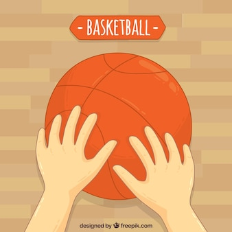 Basketbal handen achtergrond