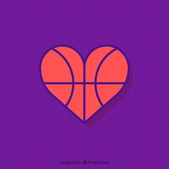 Basketbal hart achtergrond