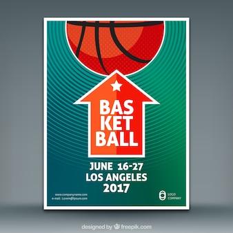 Basketbal spel flyer
