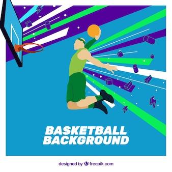 Basketbal speler achtergrond
