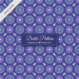 Batik patroon van abstracte bloem schetsen