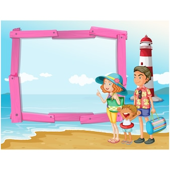 Beach achtergrond ontwerp