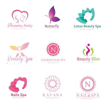Beauty logo collectie.