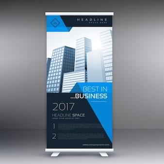 Bedrijf roll up banner-display