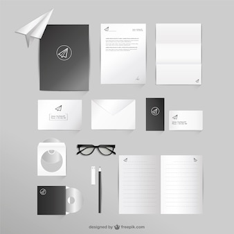Bedrijfs-en office mock-up vector set