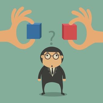 Bedrijfs karakter twijfelen