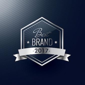 Beste merk van het jaar zilver luxe realistisch label