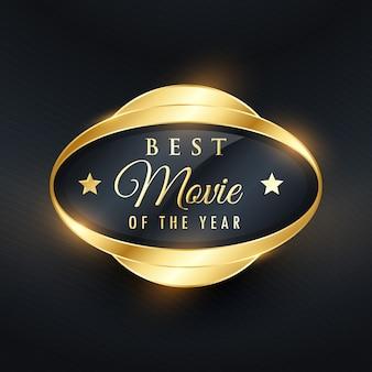 Beste muziek van het jaar gouden label en badge ontwerpen