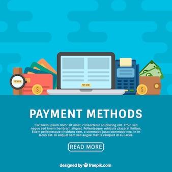 Betaalmethoden met laptop