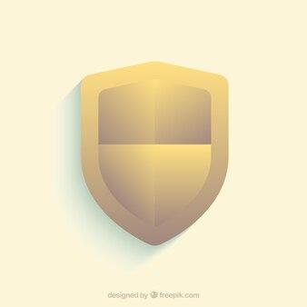 Beveiligingsachtergrond met gouden schild