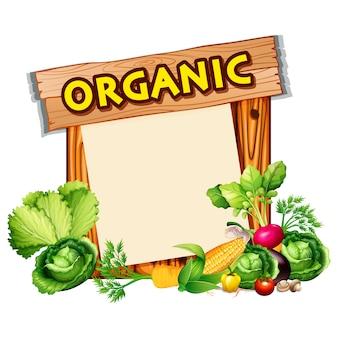 Biologisch voedsel ontwerp