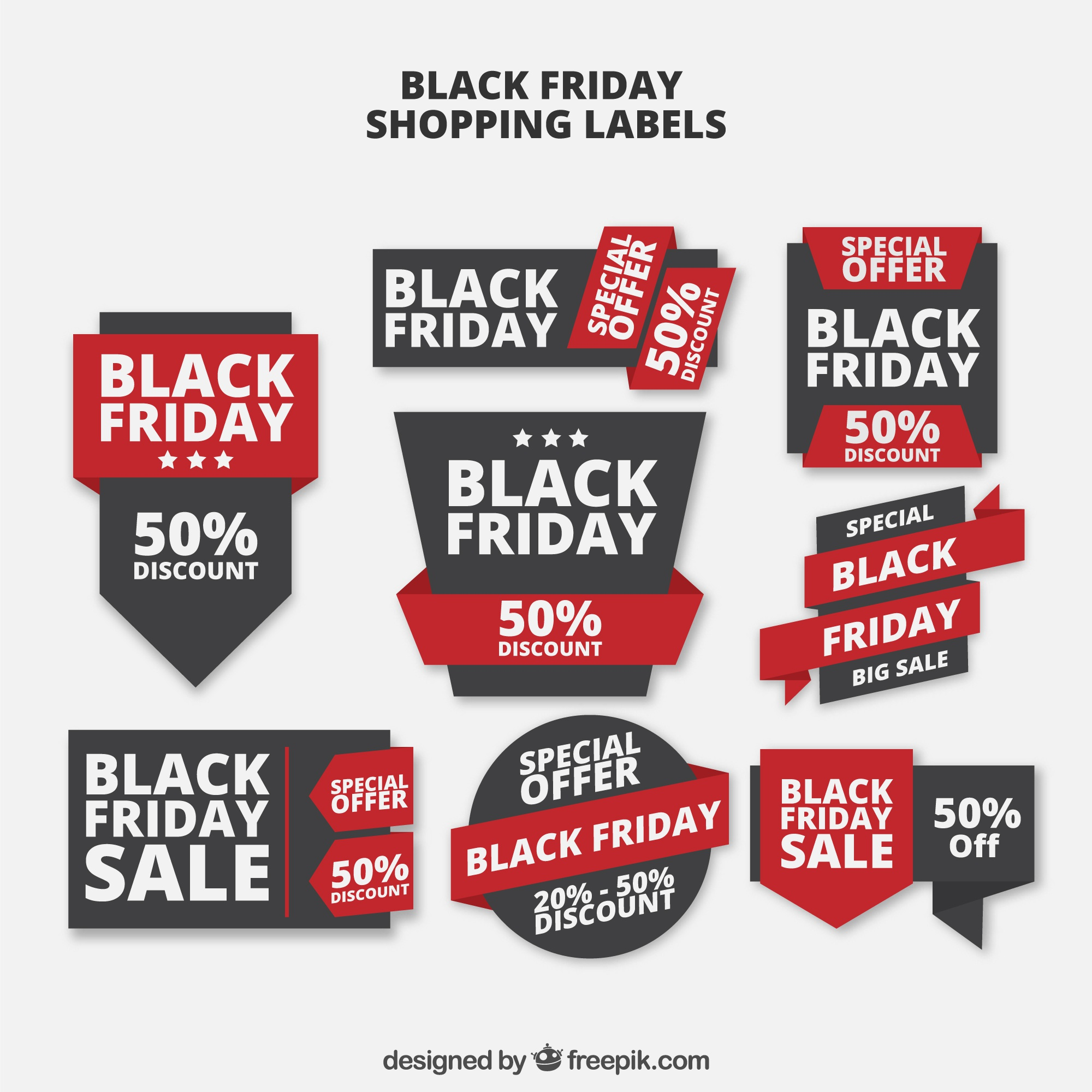 Black Friday verkoop labels Collectie