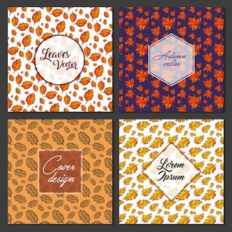 Bladeren patroon achtergrond collectie