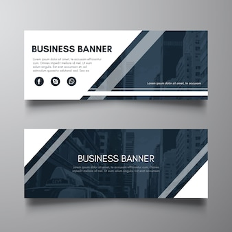 Blauw corporate business card banner