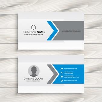 Blauw en grijs visitekaartje ontwerp