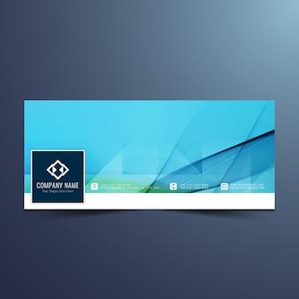 Blauw stijlvol Facebook tijdlijn ontwerp