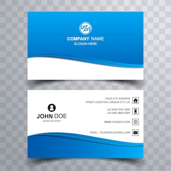 Blauw visitekaartje