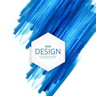 Blauw waterverf patroon