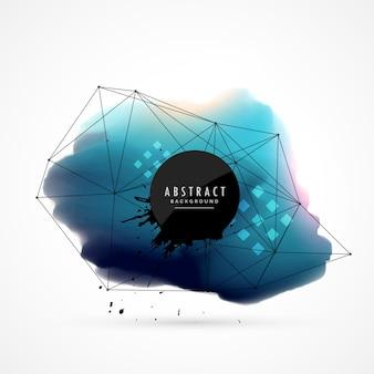 Blauwe abstracte aquarel achtergrond vlek ontwerp