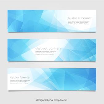 Blauwe abstracte banner