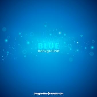 Blauwe achtergrond met abstracte cirkels