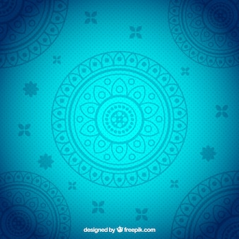 Blauwe achtergrond met decoratie sier