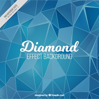 Blauwe achtergrond met diamant effect