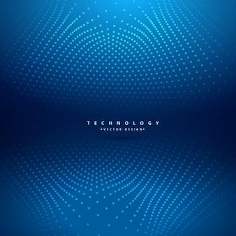 Blauwe achtergrond van de technologie