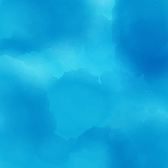 Blauwe aquarel achtergrond vectorector
