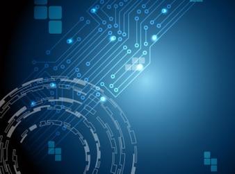 Blauwe cybernetische abstracte achtergrond