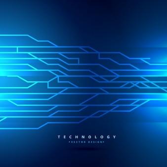 Blauwe digitale technologie achtergrond