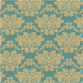 Blauwe en gouden sier patroon achtergrond