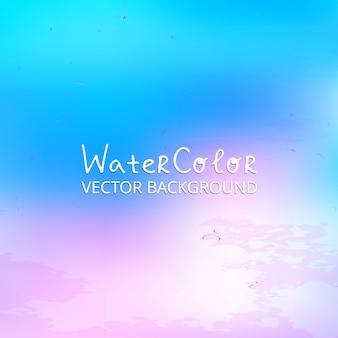 Blauwe en Roze Waterverf abstracte achtergrond