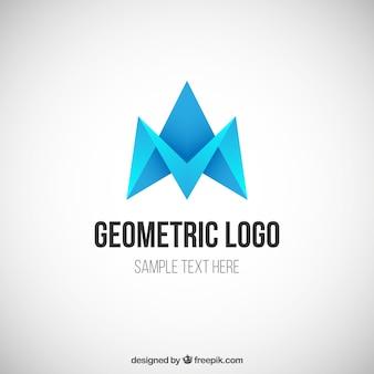Blauwe geometrische logo